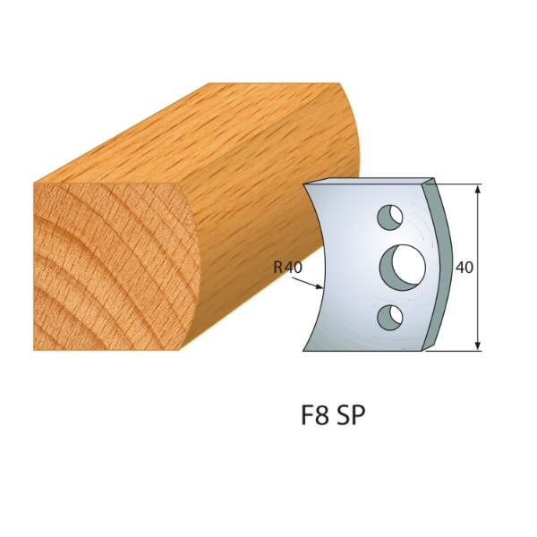 Profilmesser bzw. Abweiser Nr.8 | BG-konform- 40mm
