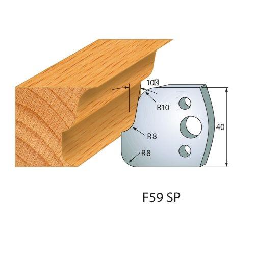 Profilmesser bzw. Abweiser Nr.59 | BG-konform - 40 mm