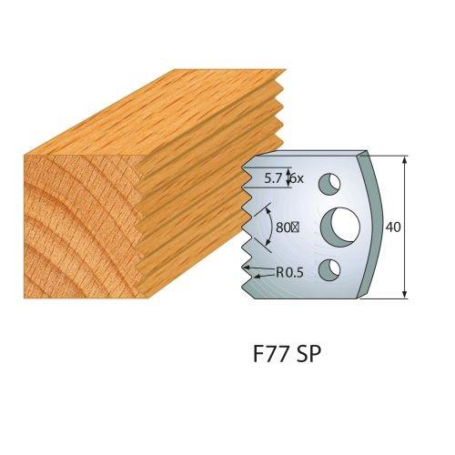 Profilmesser bzw. Abweiser Nr.77 | BG-konform - 40 mm