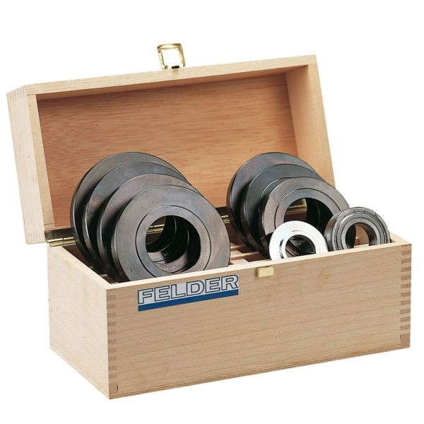 SET-Angebot! Anlaufringset in Holzkassette (⌀115 -150 mm)