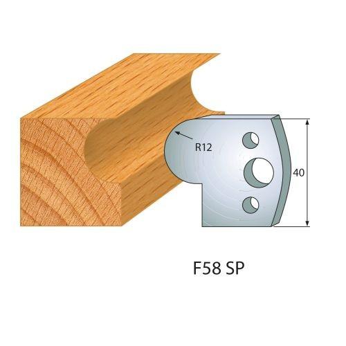 Profilmesser bzw. Abweiser Nr.58   BG-konform - 40 mm