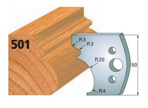 Profilmesser bzw. Abweiser Nr. 501   50 mm