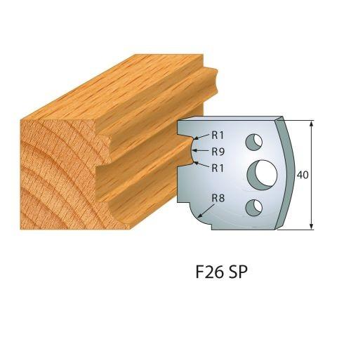 Profilmesser bzw. Abweiser Nr.26   BG-konform - 40 mm