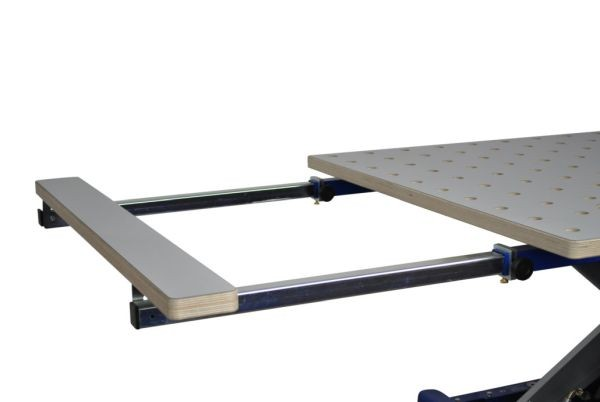 Barth Längsauszug beidseitig um 500 mm für 30 mm Lochplatte HPL beschichtet