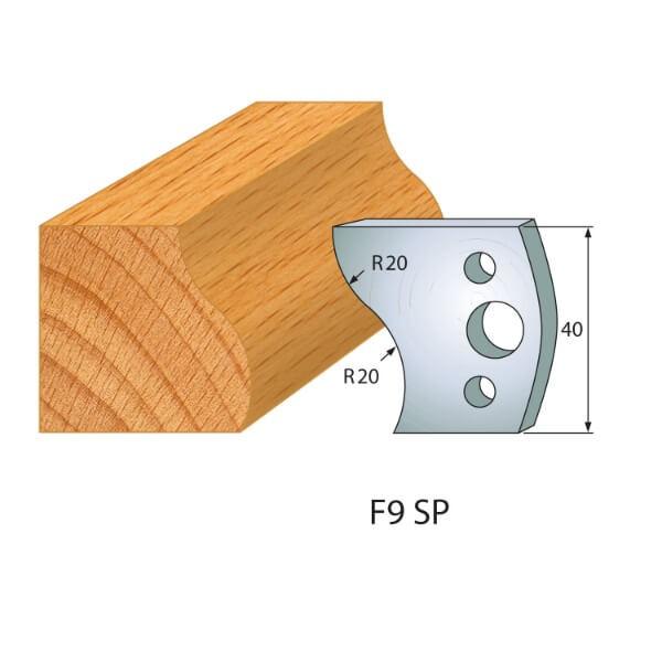 Profilmesser bzw. Abweiser Nr.9   BG-konform - 40mm