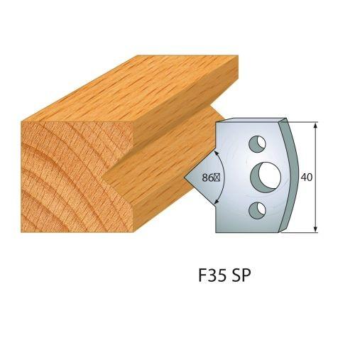Profilmesser bzw. Abweiser Nr.35 | BG-konform - 40 mm