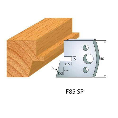 Profilmesser bzw. Abweiser Nr.85 | BG-konform - 40 mm