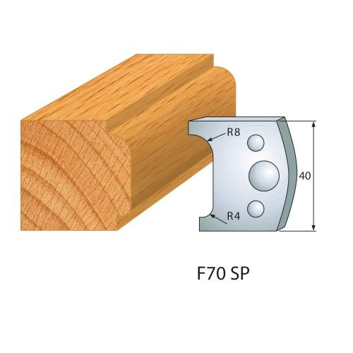 Profilmesser bzw. Abweiser Nr.70 | BG-konform - 40 mm