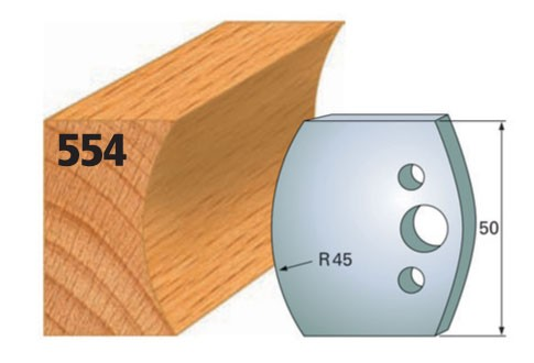 Profilmesser bzw. Abweiser Nr. 554 | 50 mm