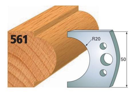 Profilmesser bzw. Abweiser Nr. 561 | 50 mm