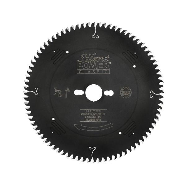 Feinschnitt-Sägeblatt, Wechselzahn Ø 250 mm, Z 80