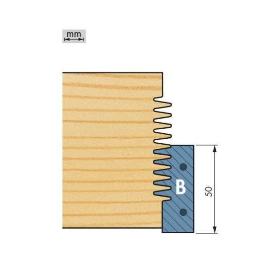 Wechselplatte für Unterteile (2 Stück) für Minizinkenfräser