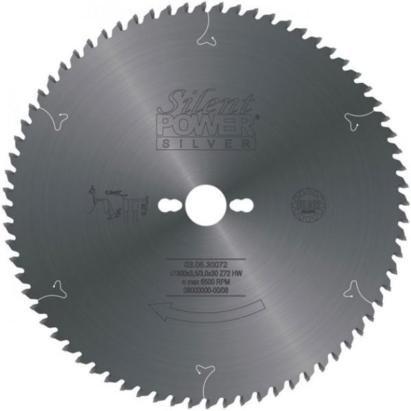 SILENT POWER SILVER Aluminium-Sägeblatt HW, Industrie-Ausführung