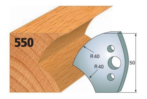 Profilmesser bzw. Abweiser Nr. 550   50 mm