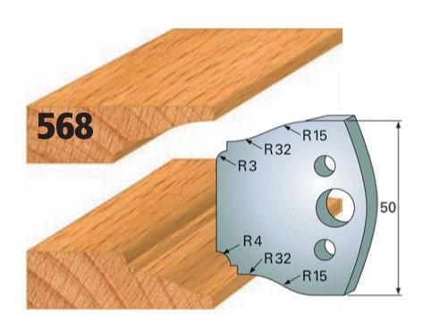Profilmesser bzw. Abweiser Nr. 568 | 50 mm