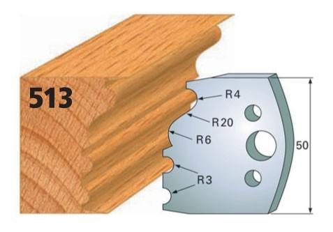 Profilmesser bzw. Abweiser Nr. 513 | 50 mm