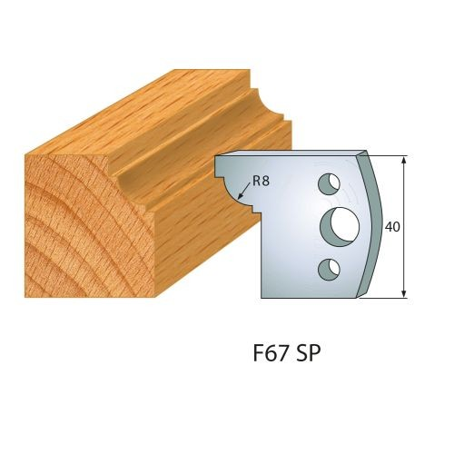 Profilmesser bzw. Abweiser Nr.67 | BG-konform - 40 mm