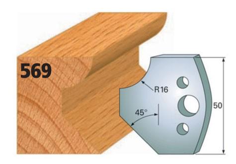 Profilmesser bzw. Abweiser Nr. 569   50 mm