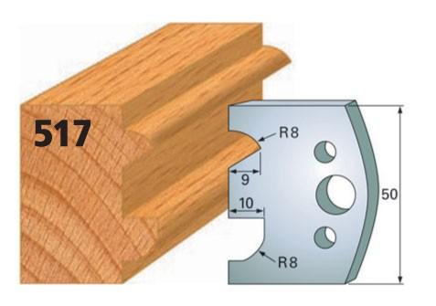 Profilmesser bzw. Abweiser Nr. 517 | 50 mm