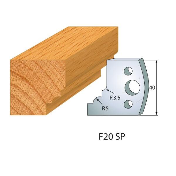 Profilmesser bzw. Abweiser Nr.20 | BG-konform - 40mm