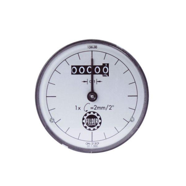 Digitaluhr für Dickenhöhenanzeige